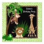 Fiesta de cumpleaños del safari de selva de los comunicado personal