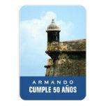 Fiesta de cumpleaños del tema de Puerto Rico Invitación 8,9 X 12,7 Cm