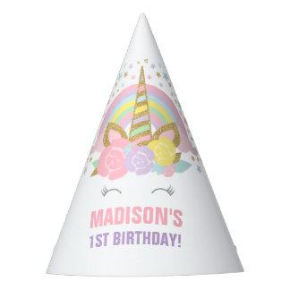 Fiesta de cumpleaños del unicornio del gorra del