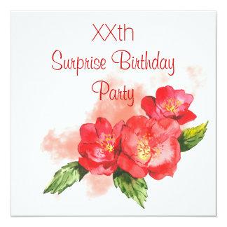 Fiesta de cumpleaños elegante de la sorpresa de invitación 13,3 cm x 13,3cm