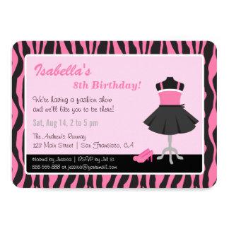 Fiesta de cumpleaños elegante de los chicas de la invitación 11,4 x 15,8 cm