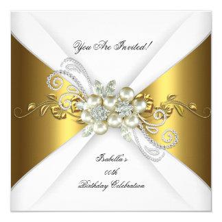 Fiesta de cumpleaños elegante del diamante de la invitación 13,3 cm x 13,3cm