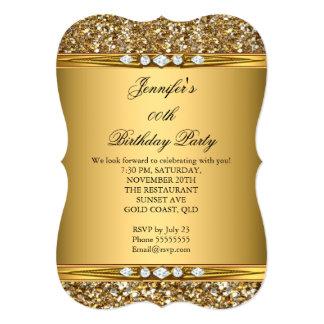Fiesta de cumpleaños elegante del diamante del invitación 12,7 x 17,8 cm