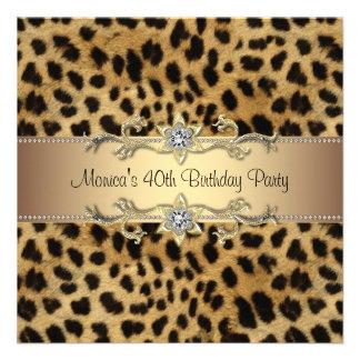Fiesta de cumpleaños elegante del leopardo