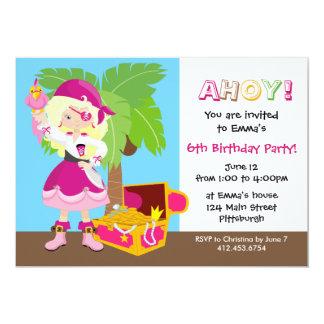 Fiesta de cumpleaños elegante del niño del pirata invitación 12,7 x 17,8 cm
