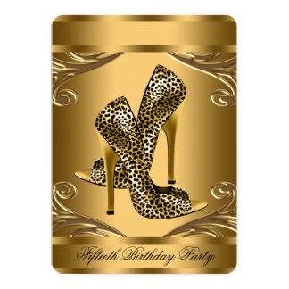 Fiesta de cumpleaños elegante del zapato del invitación 12,7 x 17,8 cm