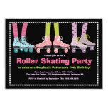 Fiesta de cumpleaños enrrollada del patinaje sobre invitacion personalizada