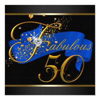 Fiesta de cumpleaños fabulosa cincuenta invitación 13,3 cm x 13,3cm
