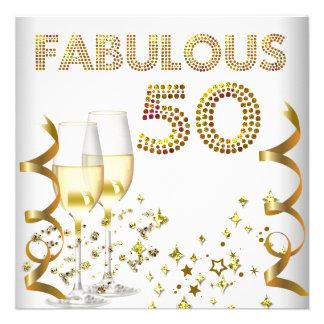 Fiesta de cumpleaños fabulosa de Champán del oro 5 Anuncios Personalizados