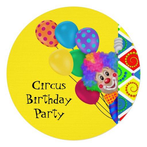 Fiesta de cumpleaños feliz del circo del payaso anuncios