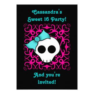 Fiesta de cumpleaños gótica linda del dulce 16 del