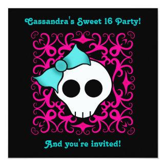 Fiesta de cumpleaños gótica linda del dulce 16 del invitación 13,3 cm x 13,3cm