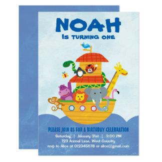 Fiesta de cumpleaños - invitación de la arca de