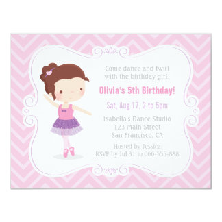 Fiesta de cumpleaños linda de Chevron del rosa del Invitación 10,8 X 13,9 Cm