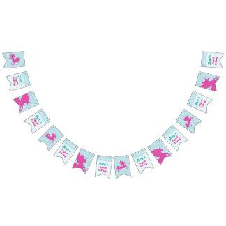 Fiesta de cumpleaños mágica con unicornio rosado banderines