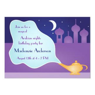 Fiesta de cumpleaños mágica de la lámpara de las invitación 12,7 x 17,8 cm