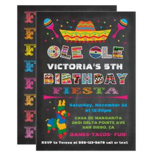 Fiesta de cumpleaños mexicana de la fiesta de la invitación 12,7 x 17,8 cm
