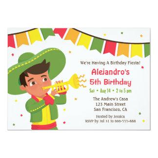 Fiesta de cumpleaños mexicana linda de la fiesta invitación 12,7 x 17,8 cm