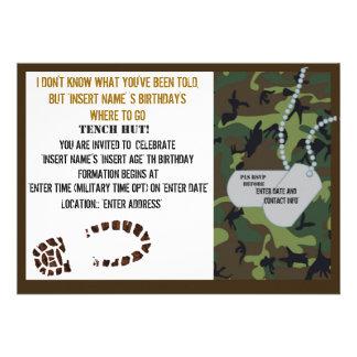 Fiesta de cumpleaños militar del tema comunicado personal