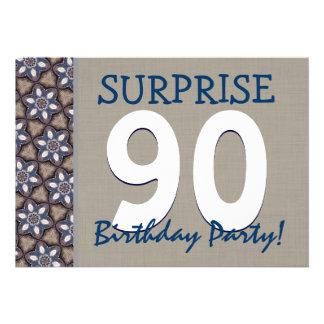Fiesta de cumpleaños moderna de la sorpresa del az