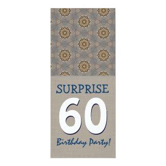 Fiesta de cumpleaños moderna de la sorpresa del invitación 10,1 x 23,5 cm