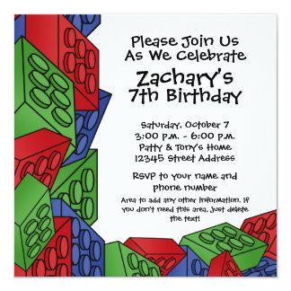 Fiesta de cumpleaños - muchacho joven invitación 13,3 cm x 13,3cm