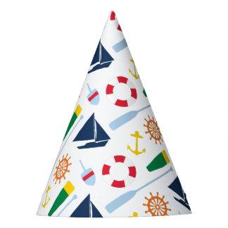 Fiesta de cumpleaños náutica de muy buen gusto gorro de fiesta
