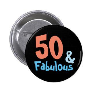 Fiesta de cumpleaños negra fabulosa chapa redonda de 5 cm