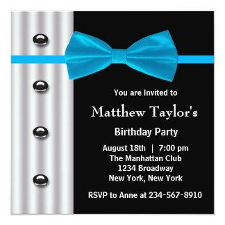 Fiesta de cumpleaños para hombre de la pajarita invitacion personal