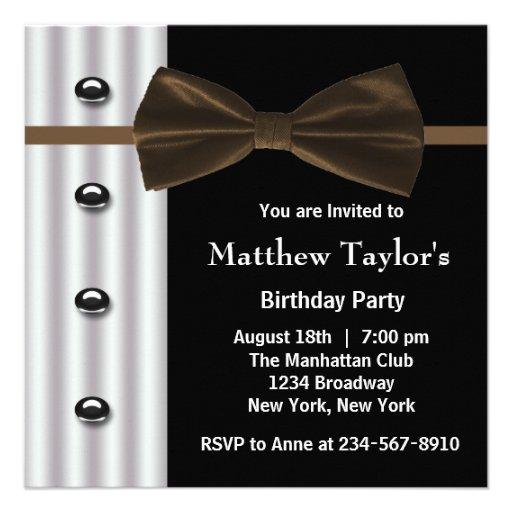 Fiesta de cumpleaños para hombre negra de la pajar invitaciones personales