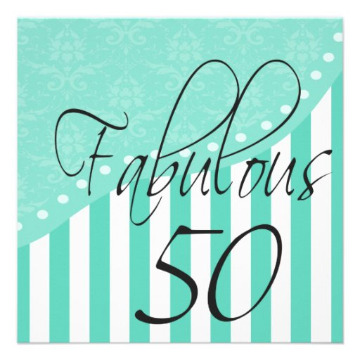 Fiesta de cumpleaños personalizada 50 fabulosos de invitacion personal