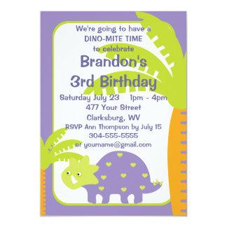 Fiesta de cumpleaños personalizada del dinosaurio invitación 12,7 x 17,8 cm