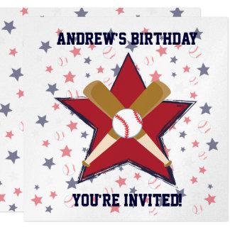 Fiesta de cumpleaños personalizada del jugador de invitación 13,3 cm x 13,3cm