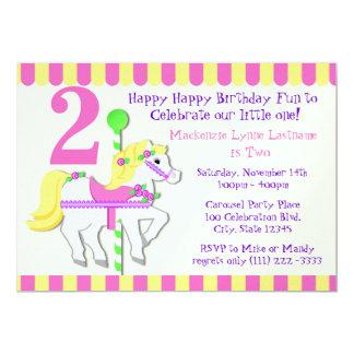 Fiesta de cumpleaños pintada del potro invitación 12,7 x 17,8 cm
