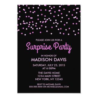 Fiesta de cumpleaños púrpura de la sorpresa del invitación 12,7 x 17,8 cm
