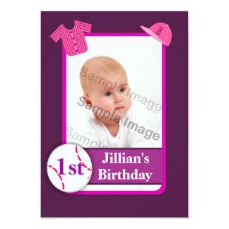 Fiesta de cumpleaños púrpura de la tarjeta de invitación 12,7 x 17,8 cm