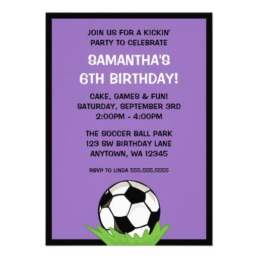 Fiesta de cumpleaños púrpura del chica del balón d anuncio