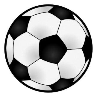 Fiesta de cumpleaños redonda del fútbol comunicados personales