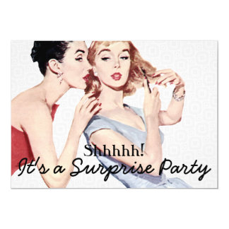 Fiesta de cumpleaños retra de la sorpresa de los invitaciones personales