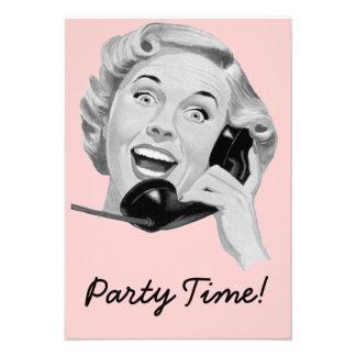 Fiesta de cumpleaños retra de los años 50 V2 Comunicado Personal