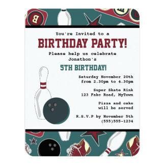 Fiesta de cumpleaños retra de los bolos invitación 10,8 x 13,9 cm