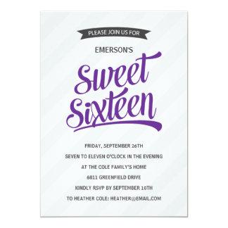 Fiesta de cumpleaños retra linda del dulce invitación personalizada
