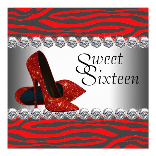 Fiesta de cumpleaños roja de la cebra del zapato d anuncios