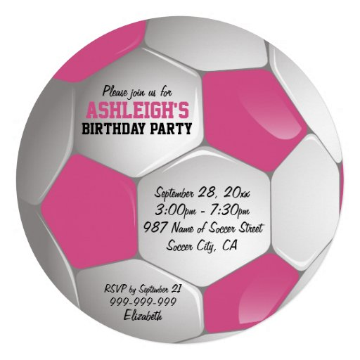 Fiesta de cumpleaños rosada y blanca del balón de  invitaciones personalizada
