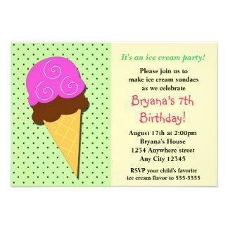 Fiesta de cumpleaños social del helado de la menta comunicados