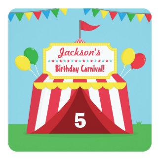 Fiesta de cumpleaños temática de los niños del invitación 13,3 cm x 13,3cm