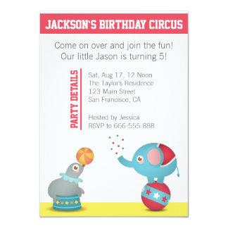 Fiesta de cumpleaños temática del circo con los comunicado personal