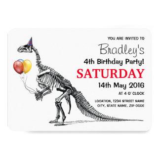 Fiesta de cumpleaños temática del dinosaurio invitación 12,7 x 17,8 cm