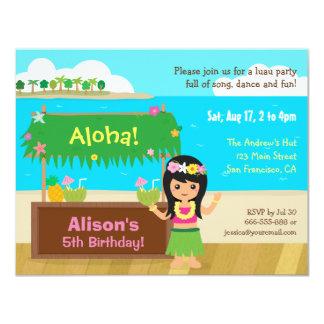 Fiesta de cumpleaños temática hawaiana de Luau del Invitación 10,8 X 13,9 Cm