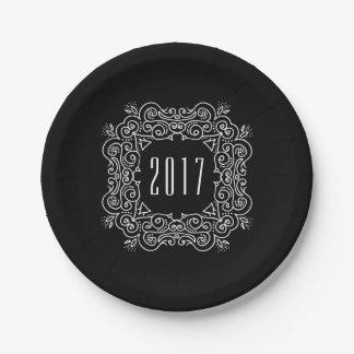 Fiesta de Deco Año Nuevo el | de Noche Vieja 2017 Plato De Papel